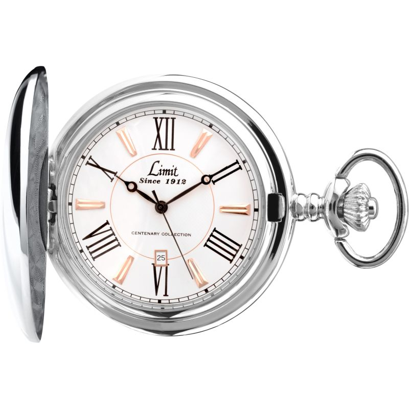 Limit Silver Coloured Full Hunter Pocket Watch 5892.90