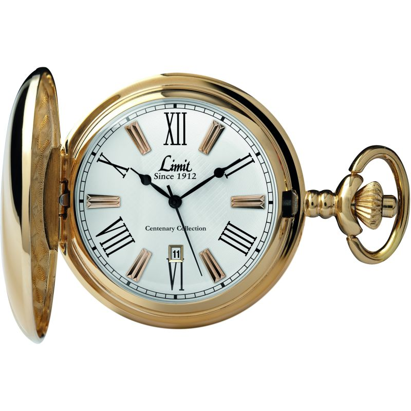 Limit Gold Plated Full Hunter Pocket Watch 5893.90