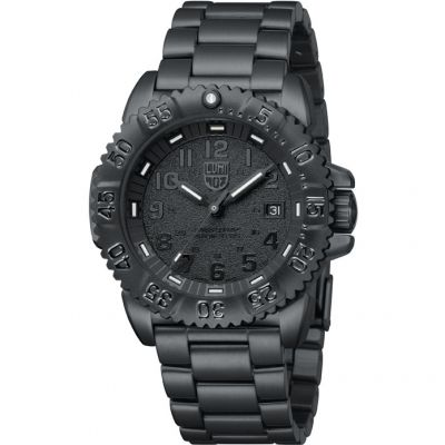 Luminox Navy SEAL Steel Colormark 3150 Series Blackout Herrenuhr in Schwarz A3152.BO