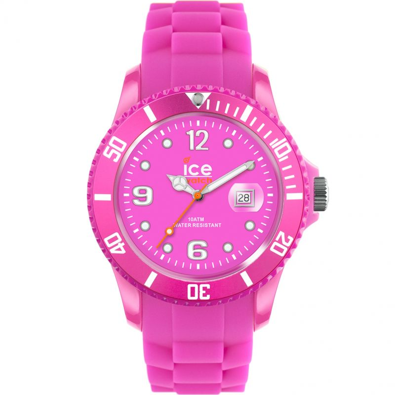 Unisex Ice-Watch Ice Flashy Neon Pink Unisex Watch SS.NPE.U.S