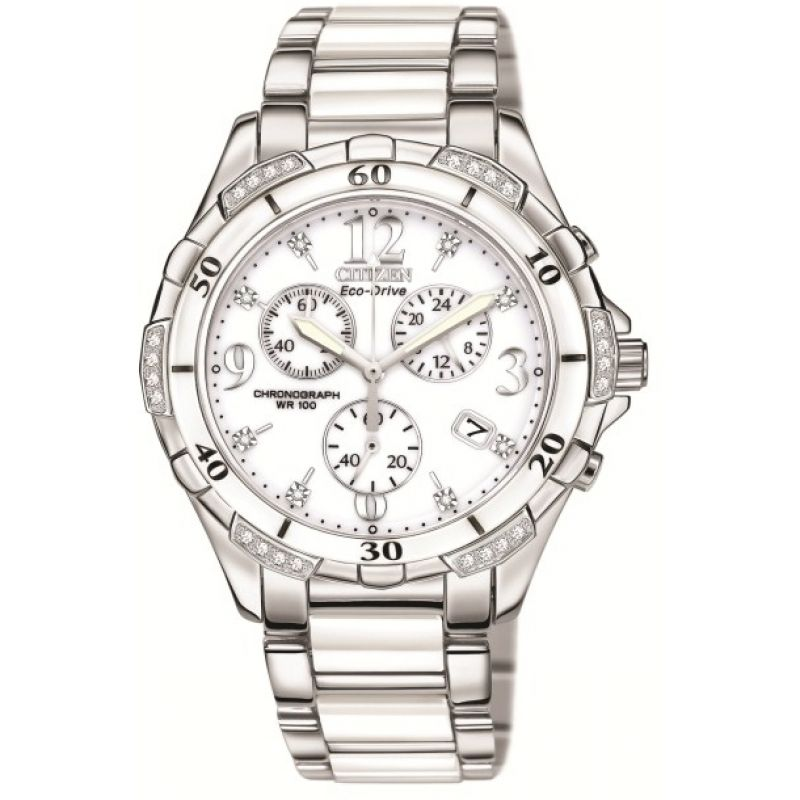 Ladies Citizen Diamond Chronograph Watch
