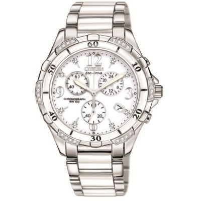 Ladies Citizen Diamond Chronograph Watch FB1230-50A