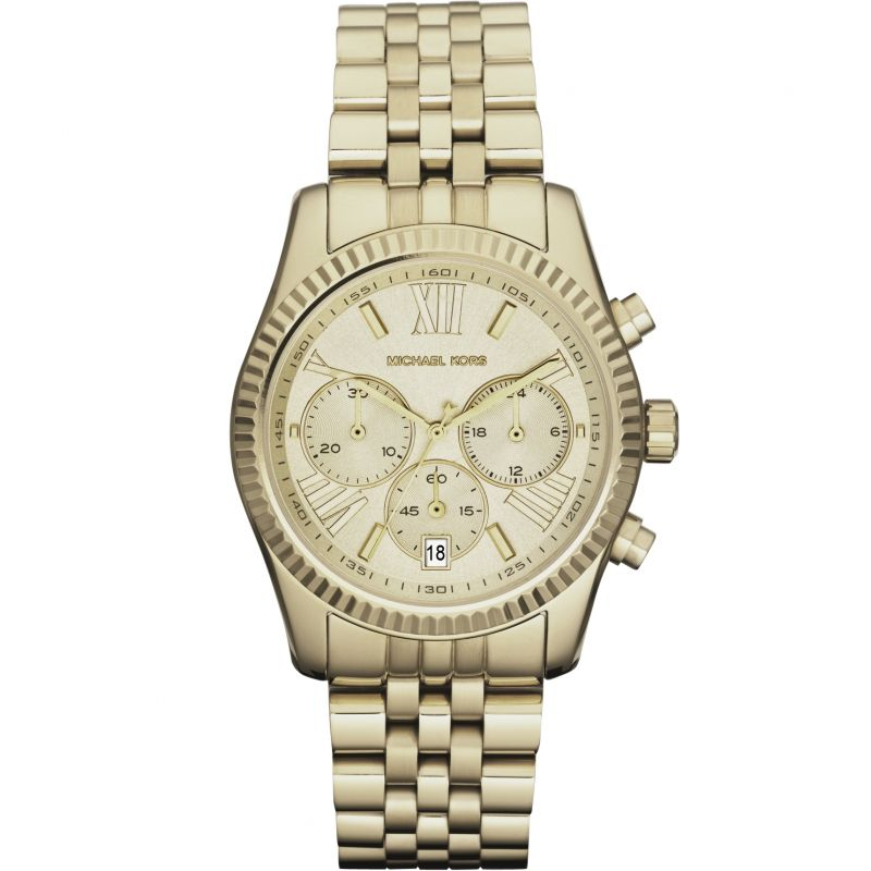 Ladies Michael Kors Lexington Chronograph Watch