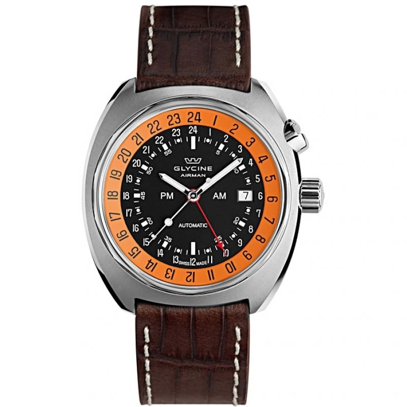 Mens Glycine Airman SST 12 GMT Automatic Watch