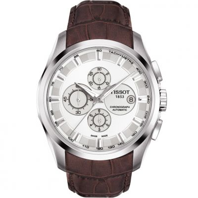 Tissot Couturier Herenchronograaf Bruin T0356271603100