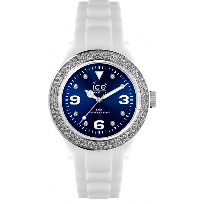 Ladies Ice-Watch Ice-Blue Stones - white/blue unisex Watch