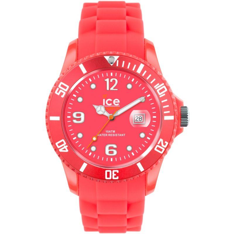 Big-Big Ice-Watch Ice-Flashy - neon red extra big Watch
