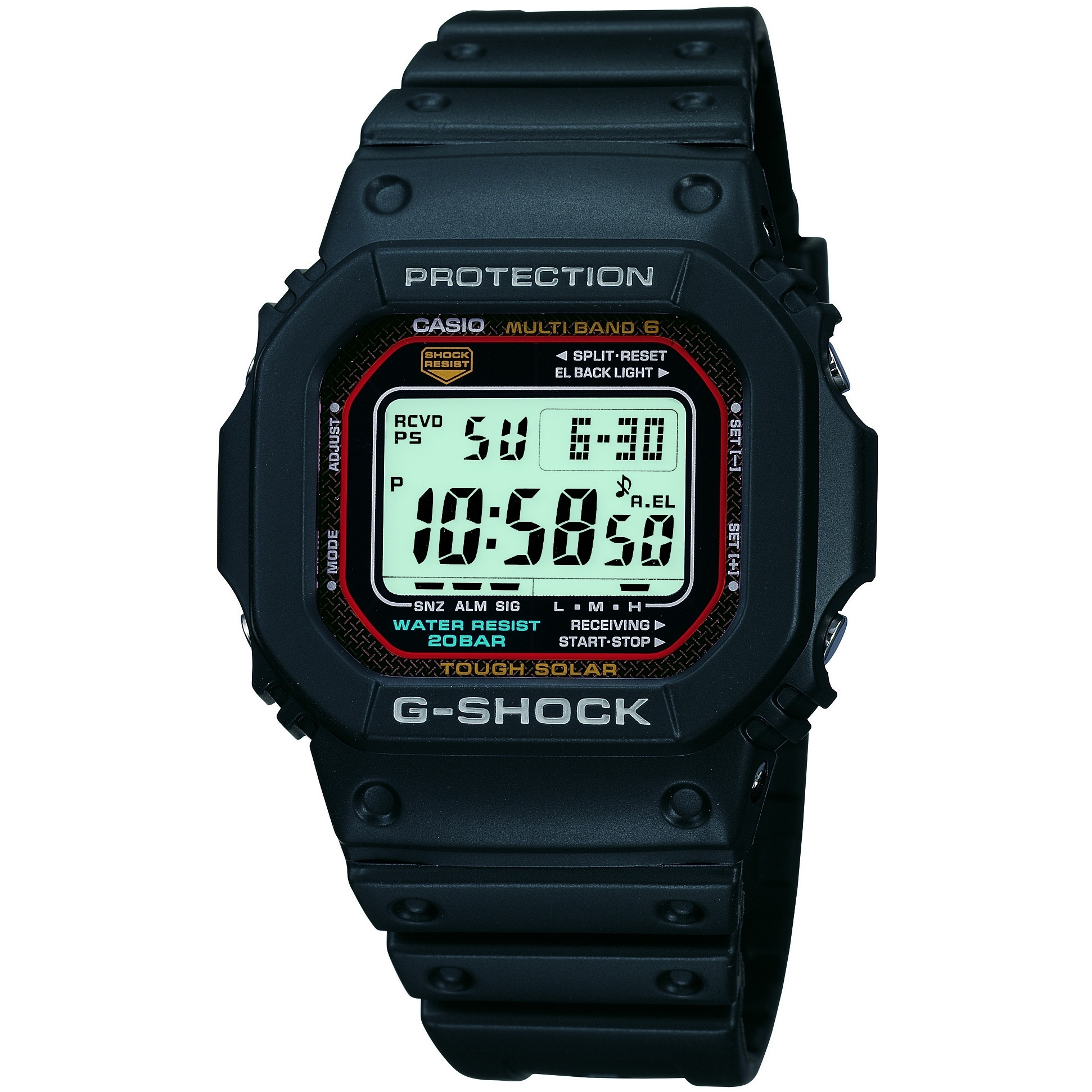 fda90dd7d Gents Casio G-Shock Alarm Chronograph Watch (GW-M5610-1ER) | WatchShop.com™