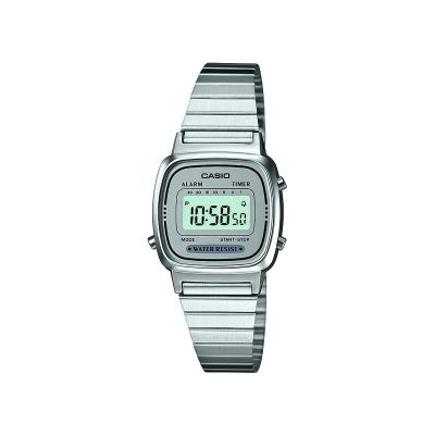 Casio Classic Collection Damkronograf Silver LA670WEA-7EF