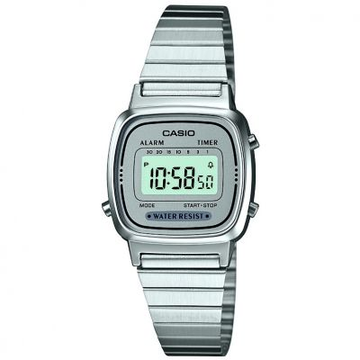 Casio Classic Collection Damenchronograph in Silber LA670WEA-7EF