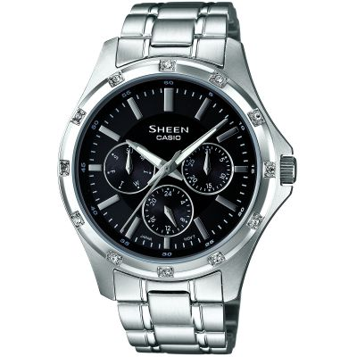 Casio Sheen Dameshorloge Zilver SHE-3801D-1ADR
