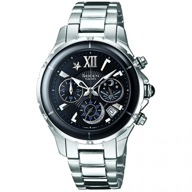 Ladies Casio Sheen Chronograph Watch SHE-5512D-1ADF