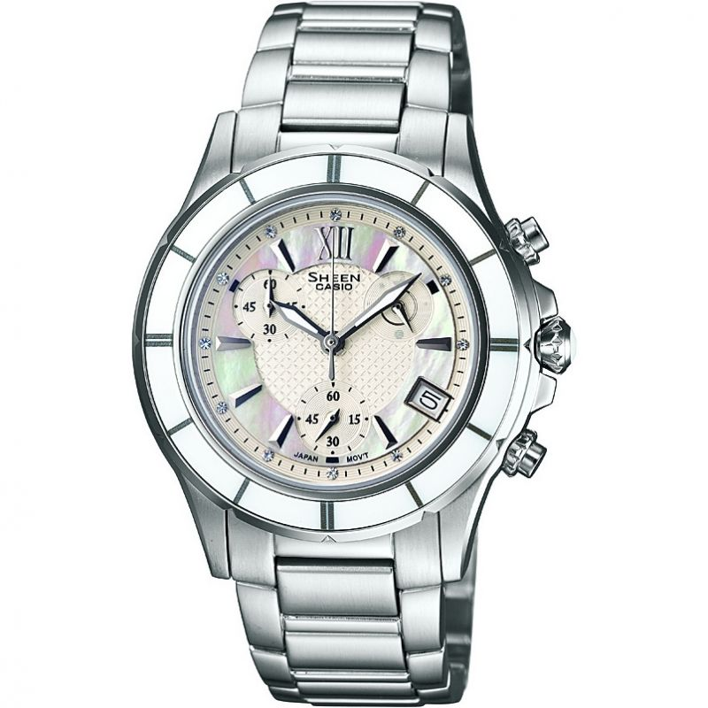 Ladies Casio Sheen Chronograph Watch SHE-5516D-7AEF