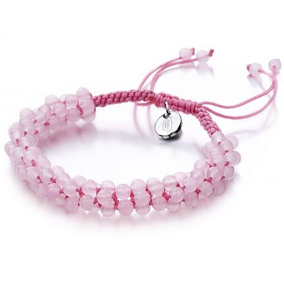 Ladies Shimla Rose Quartz Popcorn Bracelet SH-802