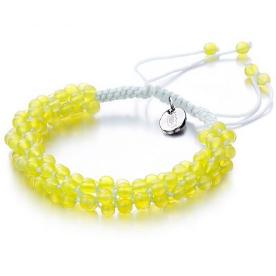 Ladies Shimla Yellow Agate Popcorn Bracelet SH-812