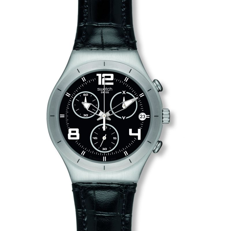 Mens Swatch Black Casual Watch