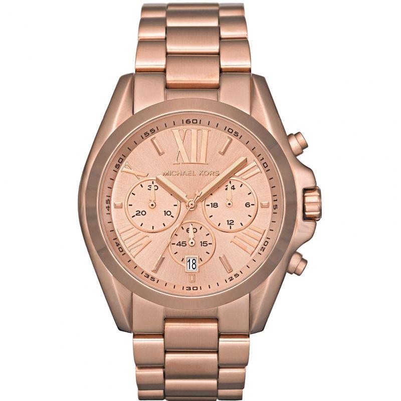 Image of            Ladies Michael Kors Bradshaw Chronograph Watch