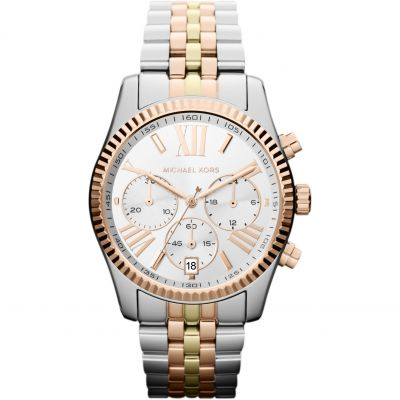 Michael Kors Lexington Dameschronograaf Tweetonig MK5735