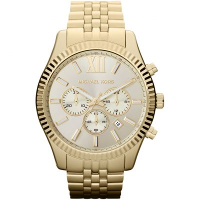 Michael Kors Lexington Herenchronograaf Goud MK8281