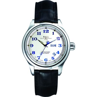 Montre Homme Ball Trainmaster Cleveland Express Chronometer NM1058D-LCJ-SL