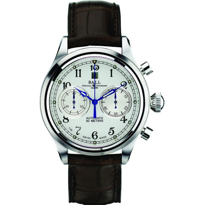 Mens Ball Trainmaster Cannonball Automatic Chronograph Watch