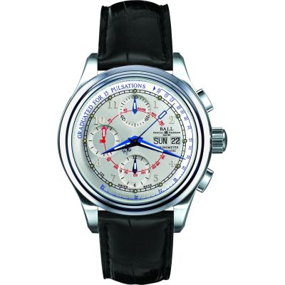 Ball Trainmaster Pulsometer Chronometer Herrenchronograph in Schwarz CM1010D-LCJ-SL