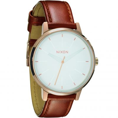 Nixon The Kensington Leather Dameshorloge Bruin A108-1045