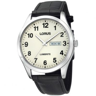 Montre Homme Lorus Lumibrite Dial Leather Strap RJ647AX9