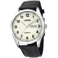 Mens Lorus Lumibrite Dial Leather Strap Watch RJ647AX9