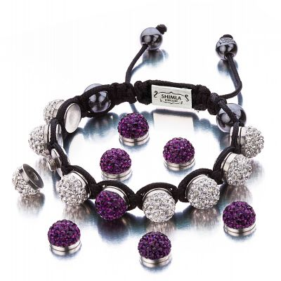 Ladies Shimla Stainless Steel Interchangeable Crystal Bracelet SH-112