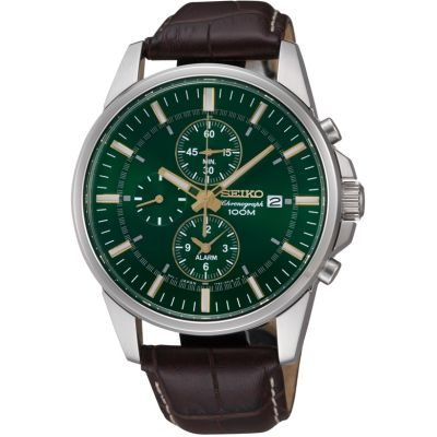 Mens Seiko Alarm Chronograph Watch SNAF09P1