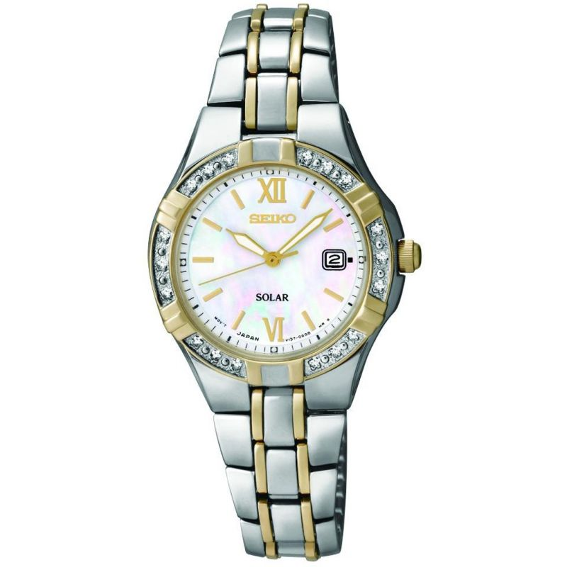 Ladies Seiko Diamond Solar Powered Watch