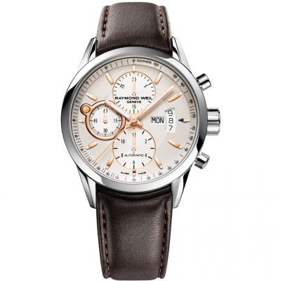 Raymond Weil Freelancer Herrenchronograph in Braun 7730-STC-65025