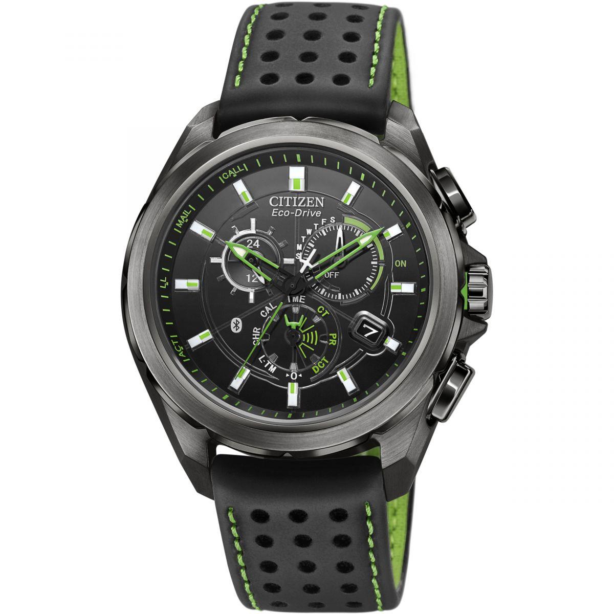 gents citizen proximity bluetooth chronograph watch at7035 01e rh watchshop com Citizen Bluetooth Watch Citizen Eco-Drive Titanium
