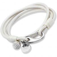 Gioielli da Donna Unique Jewellery Pearl Leather Bracelet 19cm B152PE/19CM