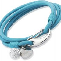 Unique & Co Turquoise Leather Bracelet 19cm JEWEL