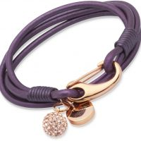 Unique & Co Berry Leather Bracelet 19cm JEWEL