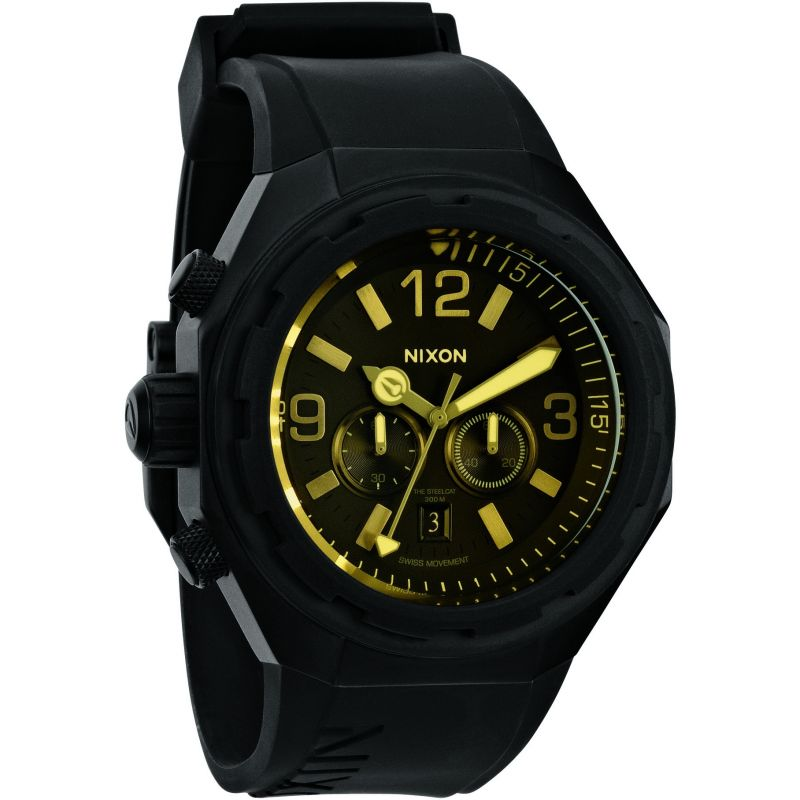 Mens Nixon The Steelcat Chronograph Watch A313-1354