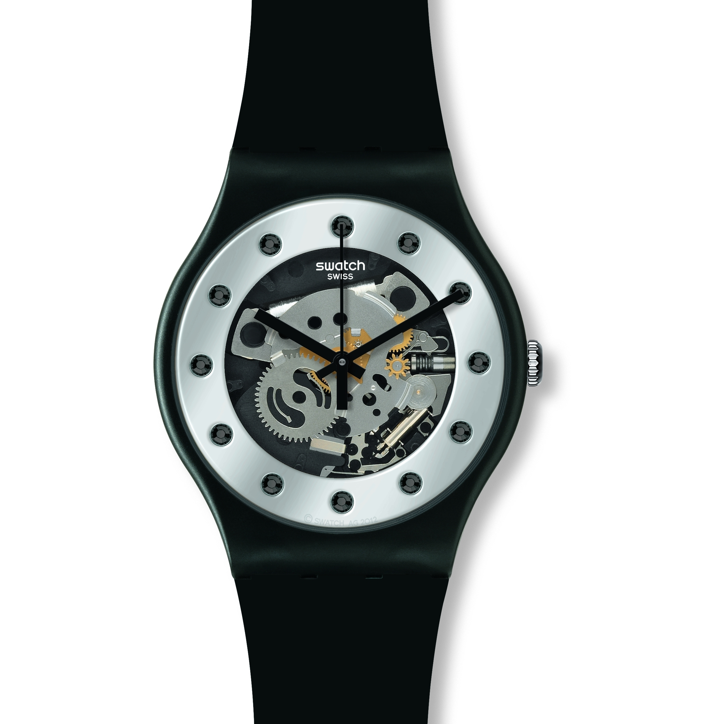 2758b4608fa8 Gents Swatch Silver Glam Watch (SUOZ147)