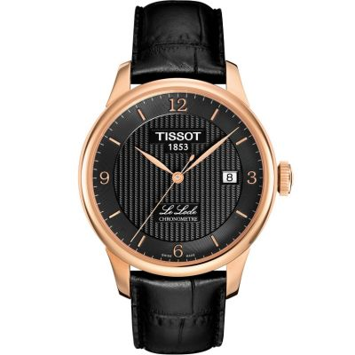 Tissot T-Classic Le Locle Chronometer Herrenuhr in Schwarz T0064083605700