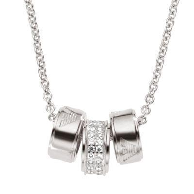 Ladies Emporio Armani Sterling Silver Necklace EG3046040