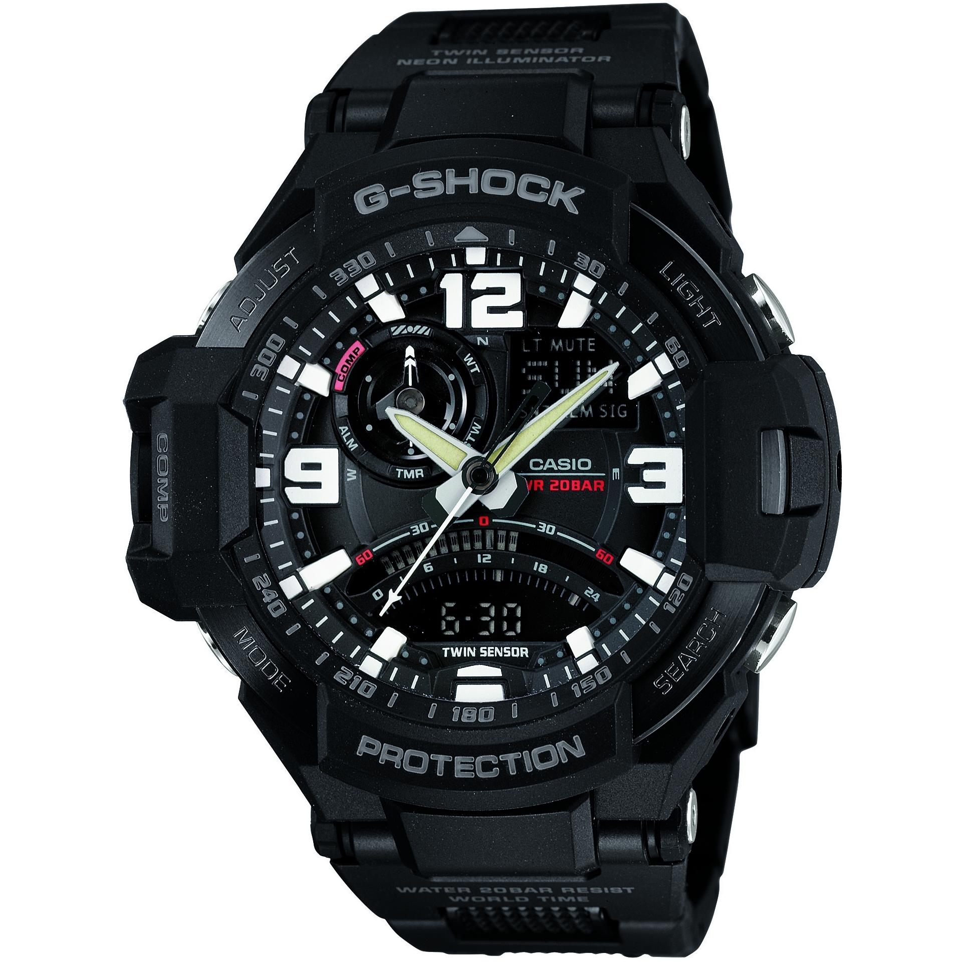 b646b399950d Gents Casio G-Shock Premium Sky Cockpit Alarm Chronograph Watch  (GA-1000FC-1AER)