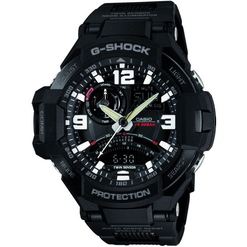 Mens Casio G-Shock Premium Sky Cockpit Alarm Chronograph Watch