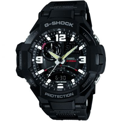 Mens Casio G-Shock Premium Sky Cockpit Alarm Chronograph Watch GA-1000FC-1AER
