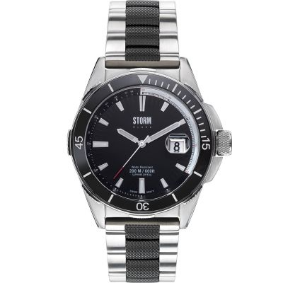 Mens STORM BLACK Made In England Aquatec Watch 47145/BK
