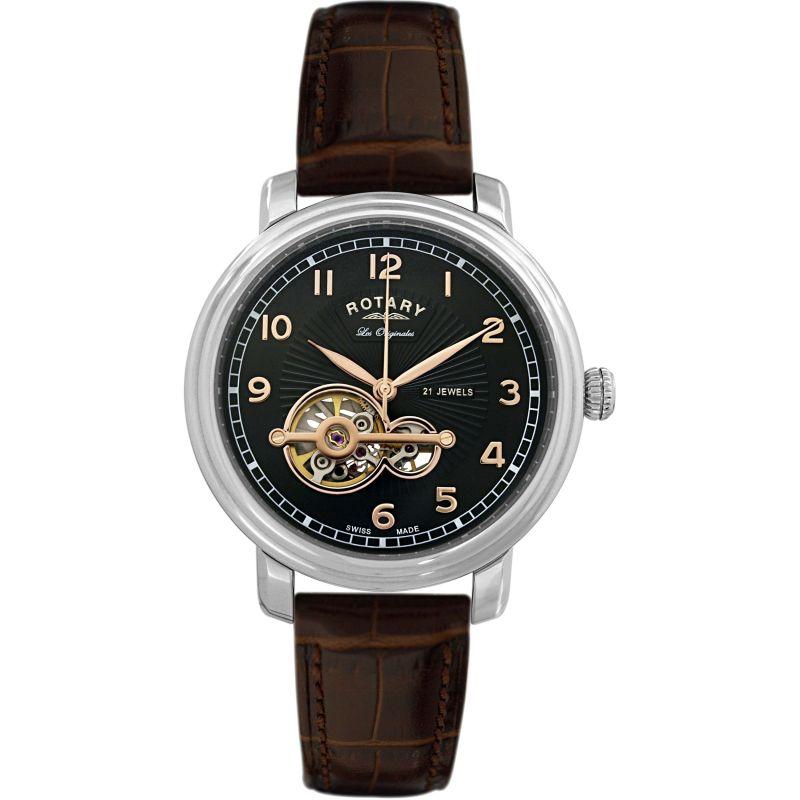 Mens Rotary Swiss Made Jura Automatic Watch
