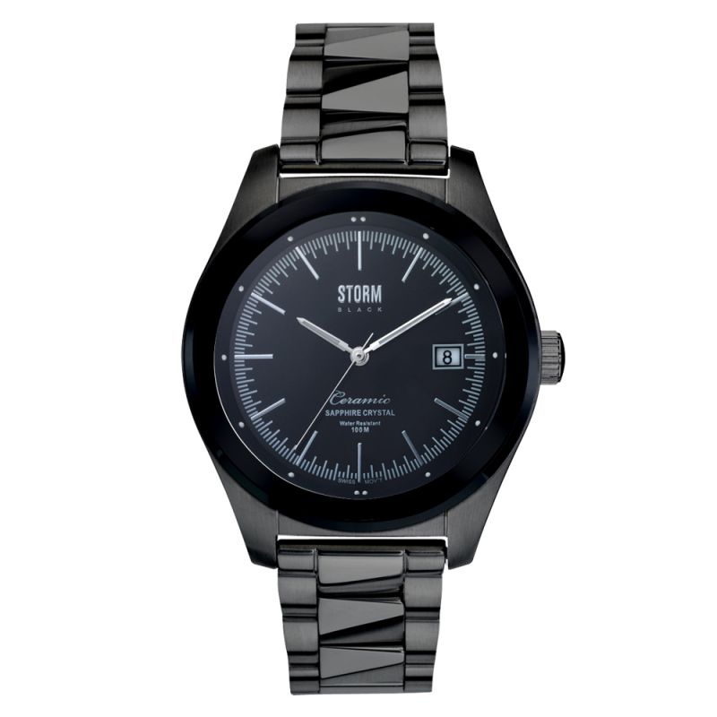 Mens STORM BLACK Bezel Watch BEZEL-SLATE