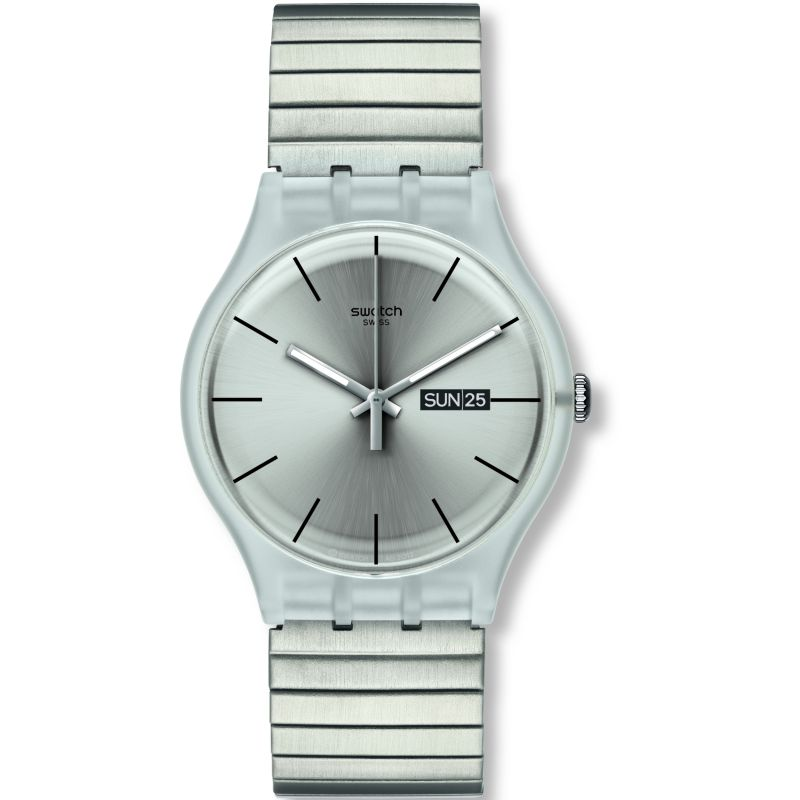 Swatch Resolution Large Unisexklocka Silver SUOK700A