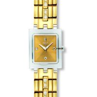 Ladies Swatch White Barrette Watch