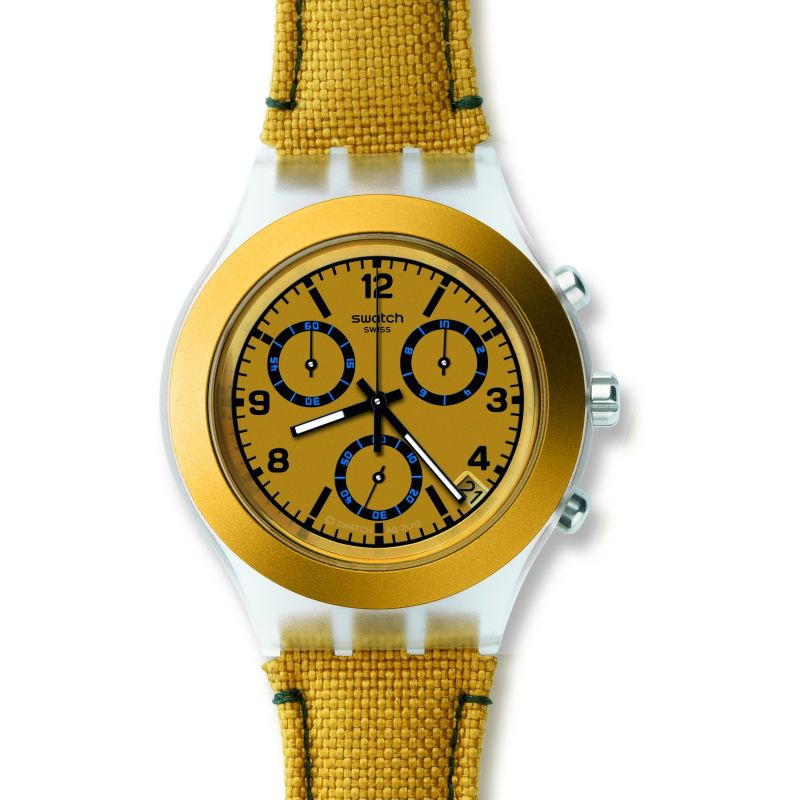 Unisex Swatch Mustardy Chronograph Watch